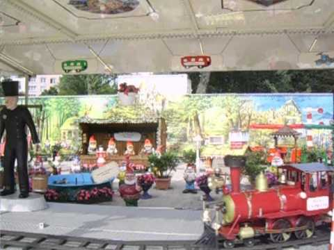 In the amusement park in Hamburg, Germany with electric train