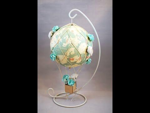 How to make a wedding hot air balloon decoration, flower hot air balloon, Map ,Party decor