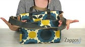 e8bfb854ce Orla Kiely Coated Canvas Zip Top Messenger on QVC - YouTube