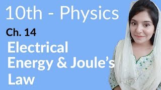 10th Class Physics, Ch 14, Electrical Energy & Joule's Law - Class 10th Physics