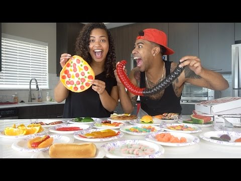 Thumbnail: REAL FOOD vs GUMMY FOOD CHALLENGE!! (VERY FUNNY)