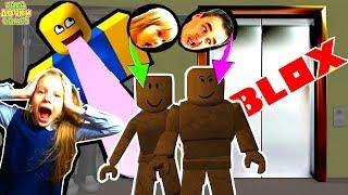 СНОВА СТРАННЫЙ ЛИФТ в ROBLOX здесь Мистер СКЕЛЕТ и ДАЙ ПЯТЬ. Дочки и папа играют сумасшедший лифт #3