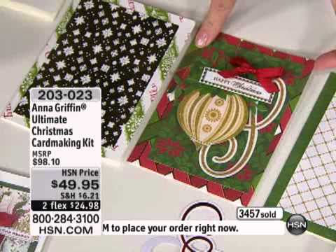 Anna Griffin Christmas Cards.Anna Griffin Ultimate Christmas Cardmaking Kit