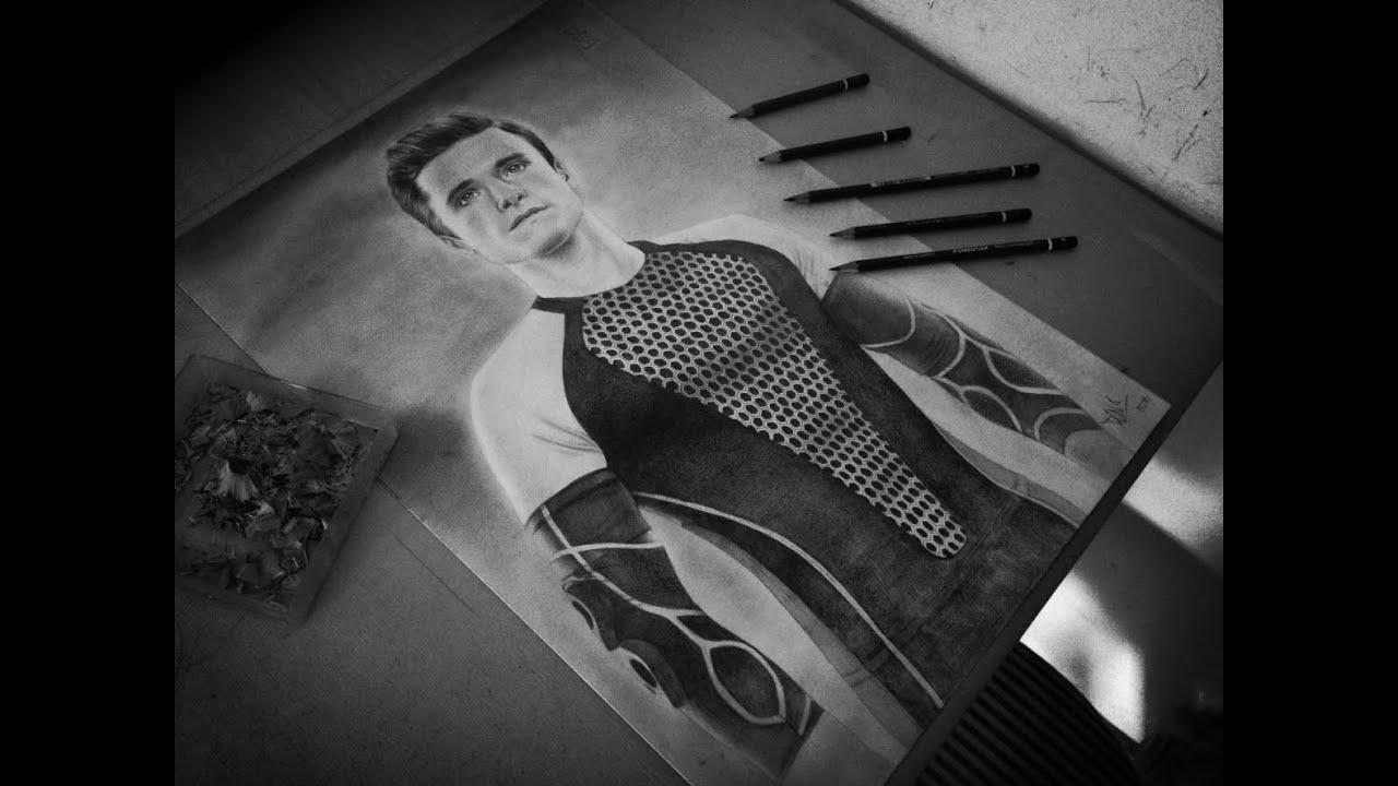 Drawing Peeta Mellark  Josh Hutcherson