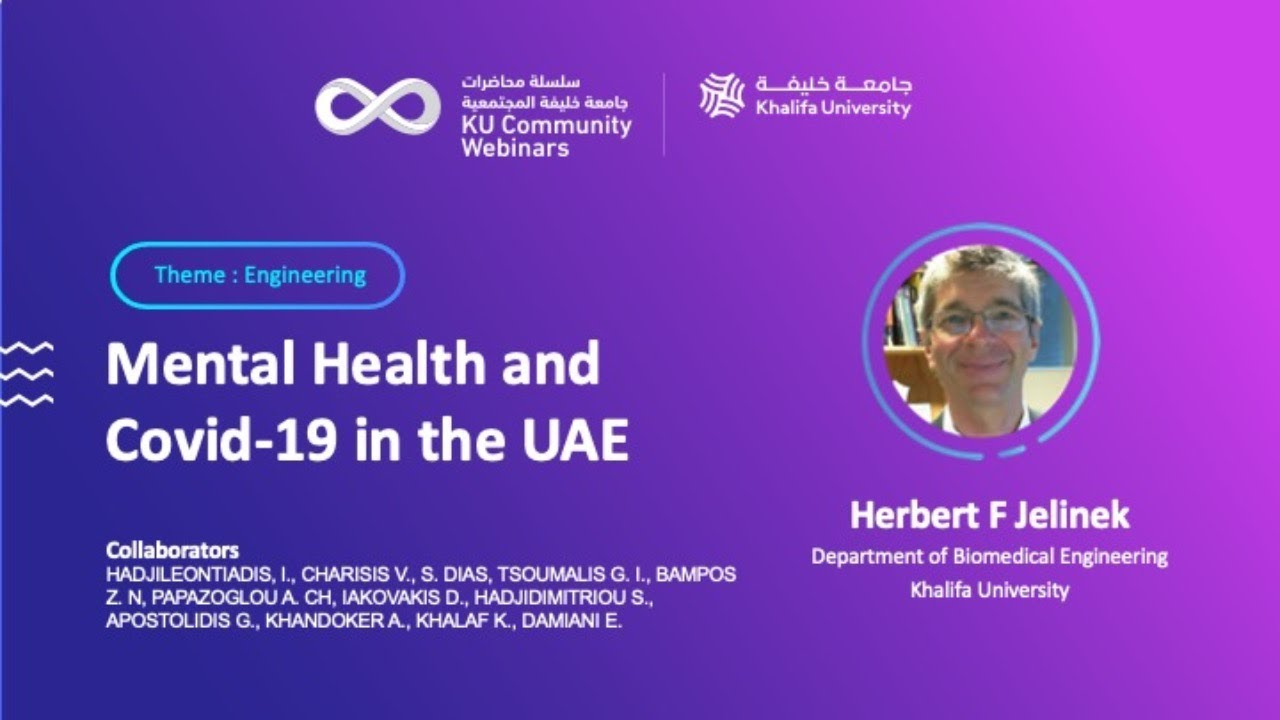 Mental Health and Covid-19 in the UAE by Dr. Herbert F Jelinek