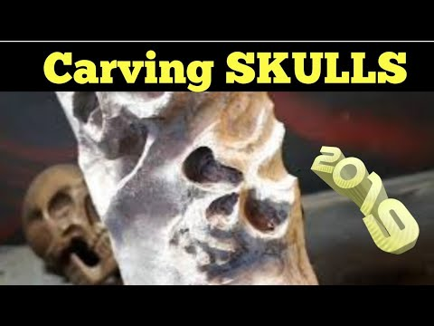 *NEW*  Carving skulls and cherry blossoms, 2019