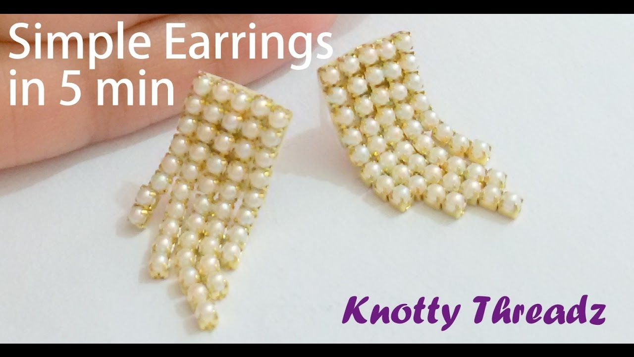 DIY | How to make Simple Earrings in 5 minutes at Home | Tutorial ...
