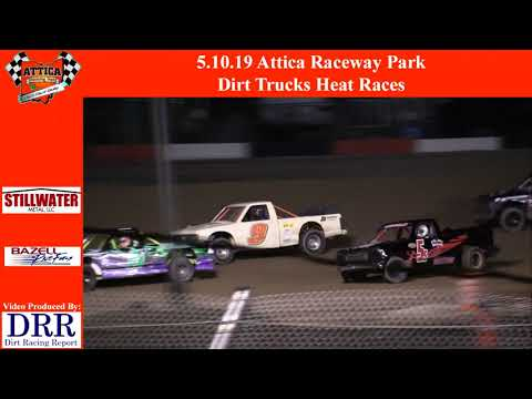 5.10.19 Attica Raceway Park Dirt Trucks Heat Races