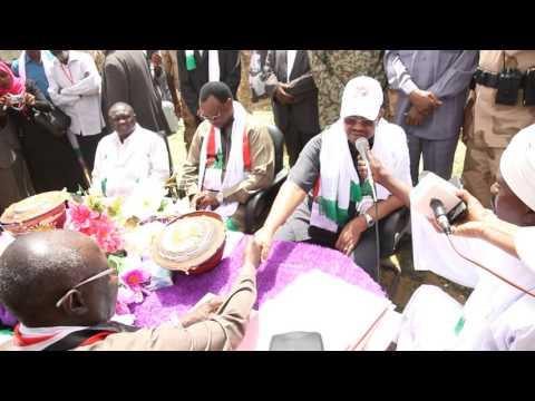 Omar al Bashir in Zalingei زالنجي/Central Darfur ولاية وسط دارفور/Sudan السودان on 03 April 2016
