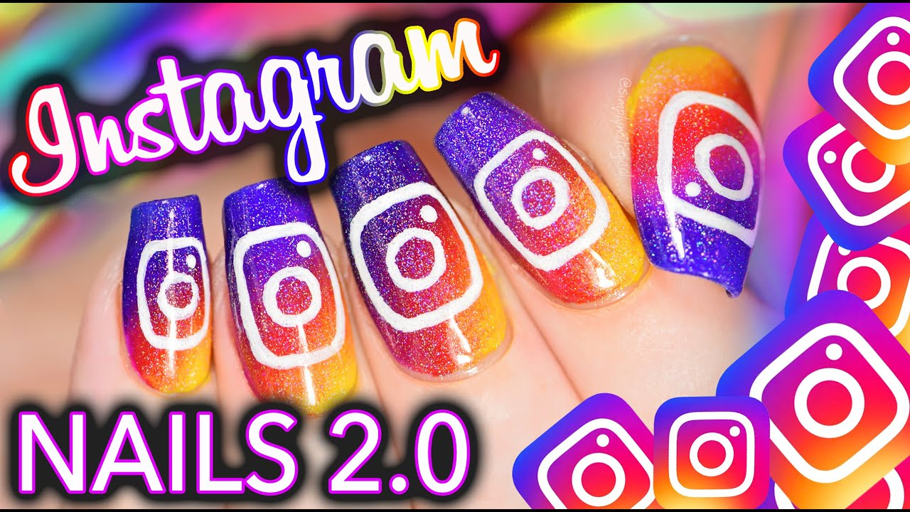 Instagram UPDATE 2.0 Nail Art! And I improved it - YouTube
