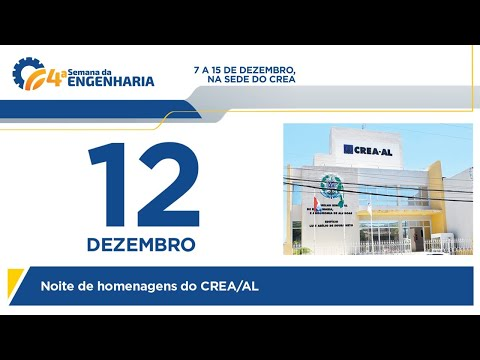 Noite de Homenagens - 4ª Semana da Engenharia de Alagoas