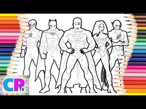 Justice League  Coloring Pages 5, Justice League Coloring Pages Kids Tv,Wonderwoman, Superman...
