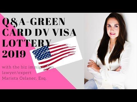Q&A GREEN CARD DV VISA LOTTERY 2019