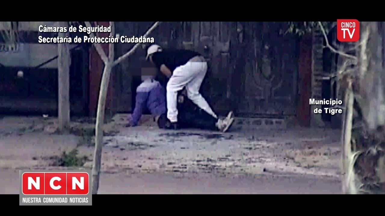 CINCO TV - Golpeó brutalmente a una mujer intentó fugarse pero fue atrapado por el COT