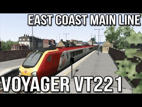 Voyager VT221 Advanced - Dundee to Edinburgh (ECML) Part 1 - Train Simulator 2014