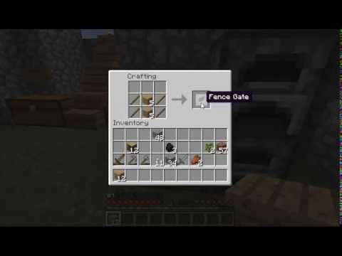 Minecraft 1 8 8 How To Make Oak Fence And Fence Gate