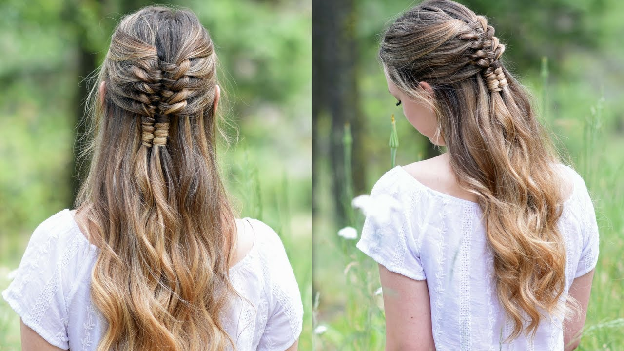 Floating Infinity Braid | Holiday Hairstyles | Cute Girls ...