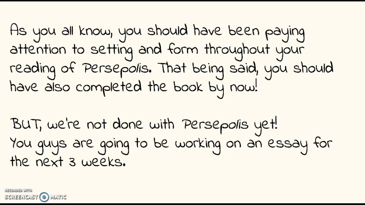 Persepolis Essay Thesis Writing Youtube