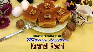 Karamelli Revani (Şerbetli Tatlı Tarifleri)