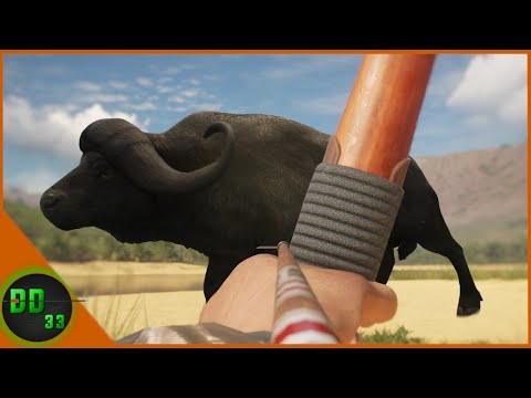 Long Bow Hunting for Cape Buffalo!  Call Of The Wild