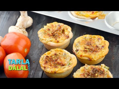 Mini Pizza Cups, Recipe In Hindi (मिनी पिज्जा कप) By Tarla Dalal