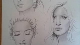 Anushka Sharma Deepika Padukone Sonam Kapoor Priyanka Chopra Katrina Kaif sketch by me