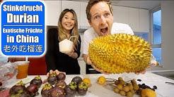 Wir essen Stinkefrucht Durian 😳 Mangosteen & Jackfruit! Exotische Früchte testen! 老外吃榴莲 Mamiseelen