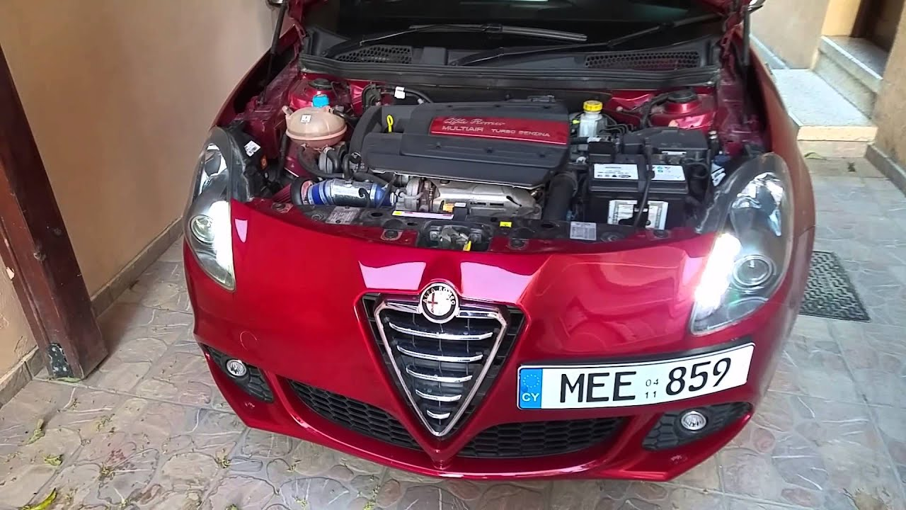 Alfa Romeo Giulietta >> Alfa Romeo Giulietta 1.4 multiar 170bhp with Apexi air filter sound - YouTube