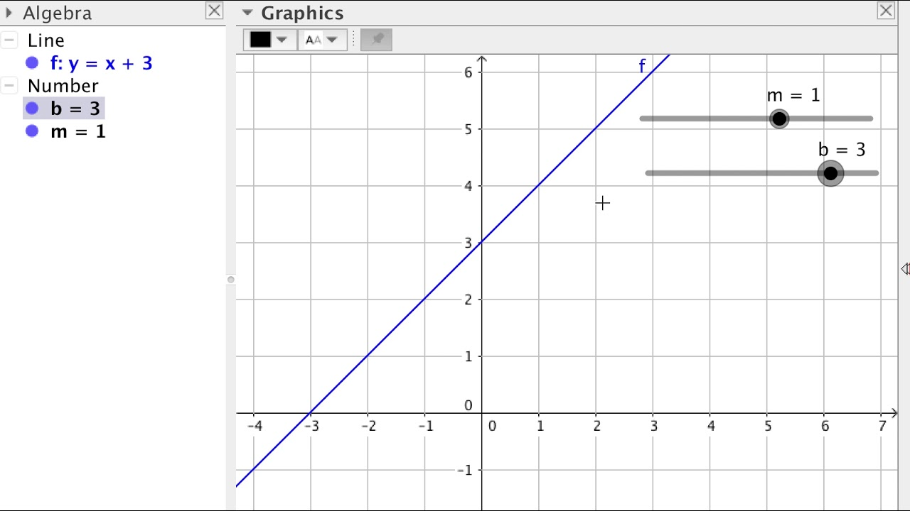 GeoGebra Tutorial 8 - Graphing Linear and Quadratic Functions