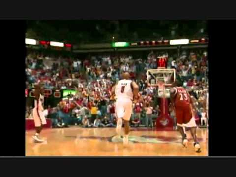 Marcus Fizer Dunk over Chris Mihm (The Mihm Facial) UPDATED