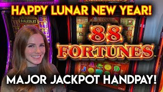 MAJOR JACKPOT HANDPAY!! 88 Fortunes Slot Machine!!