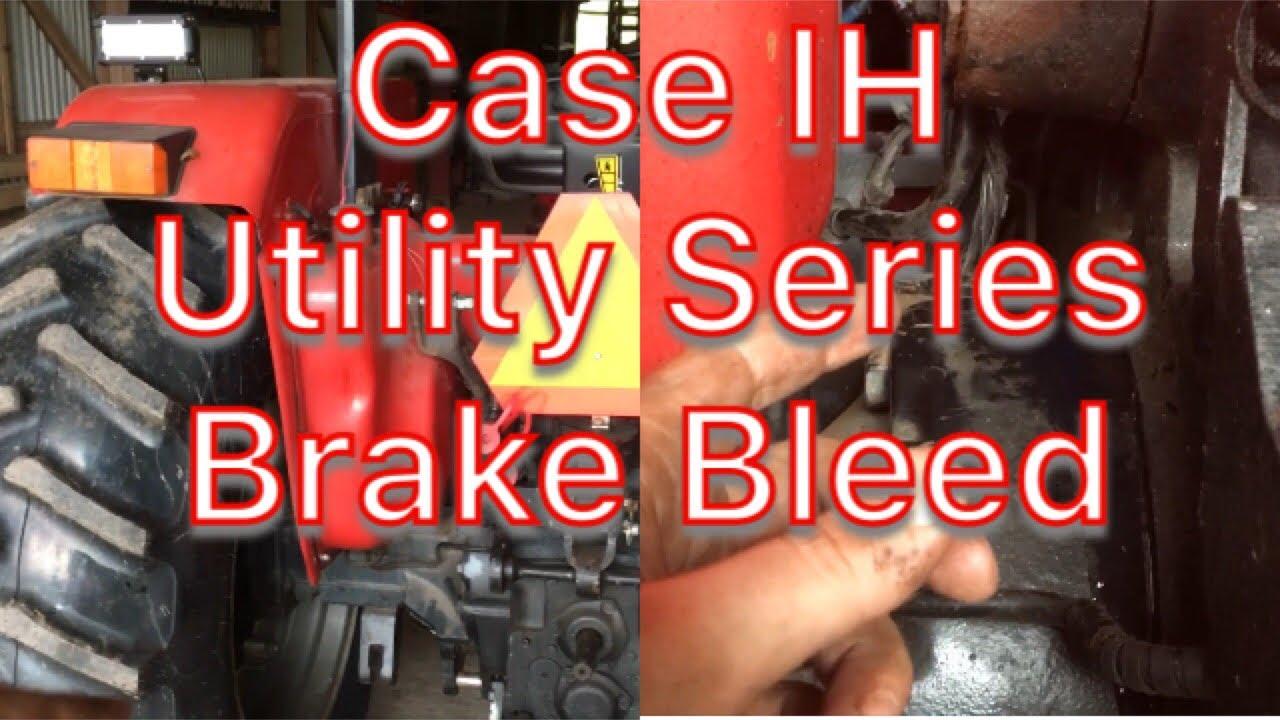 medium resolution of ih utility series bleeding brakes