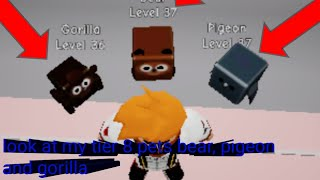 Roblox pet mining Simulator Part 11 : look at my new tier 8 pets gorilla, pigeon, bear, and 1000 sub