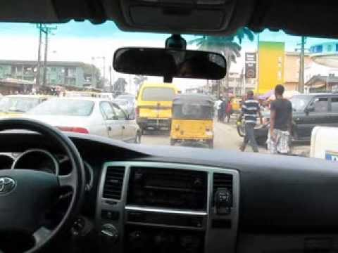 Driving in Lagos, Nigeria
