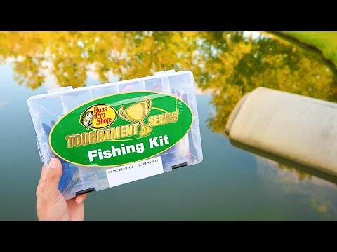 BASS PRO 69 Piece Tournament Bass Fishing Kit Challenge