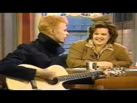 David Bowie and Iman on Rosie O Donnell Show. 1997.