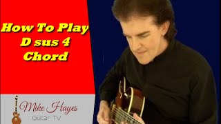 Guitar Chords How To Play The D suspended 2nd Chord On Guitar