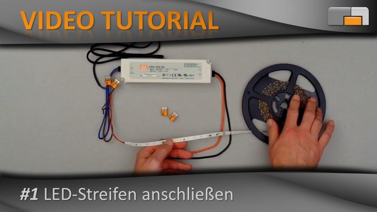 Anleitung Einfache Led Installation Mit Led Streifen Youtube