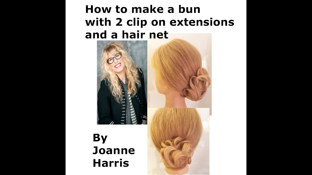 Hair Bun Created By 2 Extensions And A Hair Net Pin On And Go