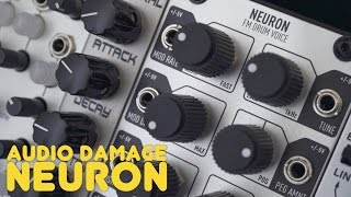 Audio Damage Neuron eurorack drums overview Modular Explained 3