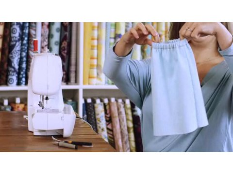 How To Sew An Elastic Waistband Sewing Lessons YouTube Adorable How To Sew Elastic With A Sewing Machine