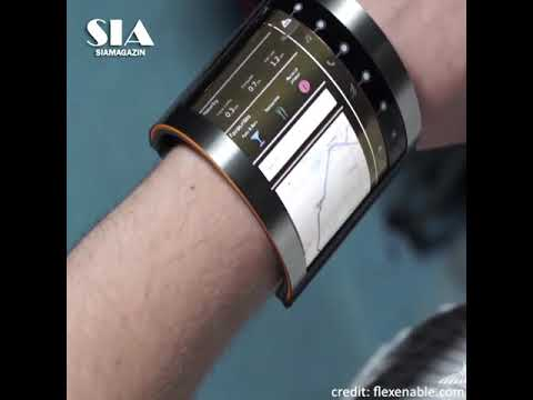 A Low Power Flexible Organic Display