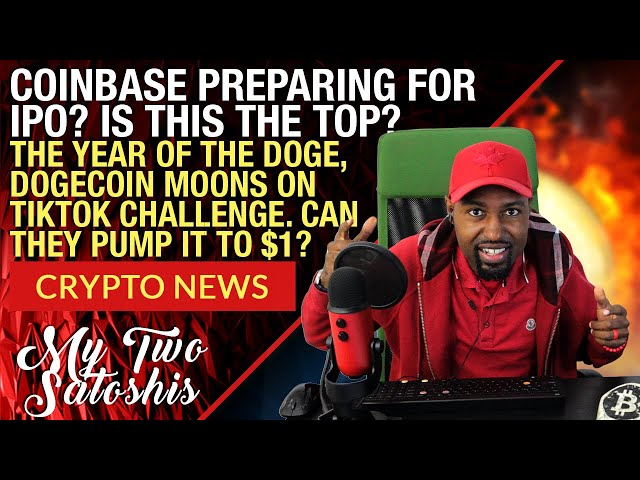 Dogecoin Tiktok Video Goes Viral Sending It Up Over 100%   Coinbase Prepares For IPO?   USDC Frozen