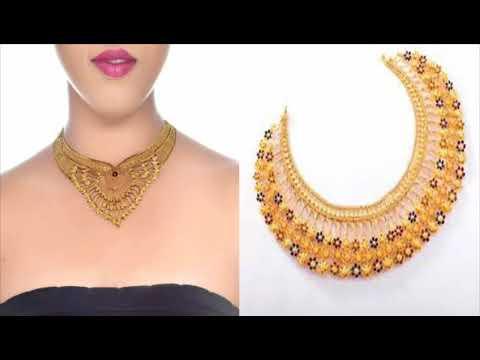 Gold short necklace design ideas/Latest beautiful gold necklace/Latest Designer Gold necklace