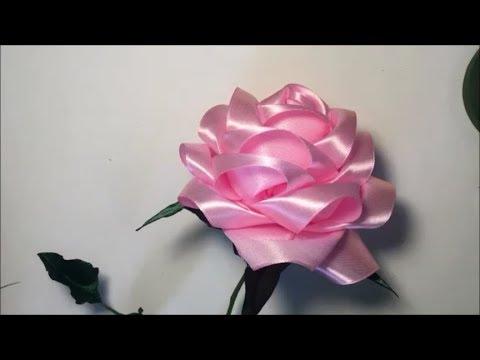 Как сделать розы из атласных ленточек