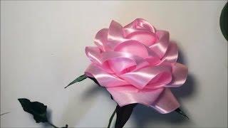 Большая роза из атласной ленты / Big rose of satin ribbon