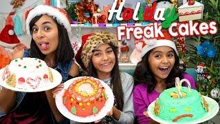 Holiday Freakcake Challenge - Sis Vs Sis : Challenges // GEM Sisters