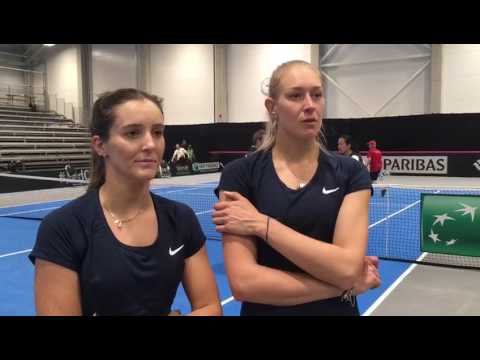 Laura Robson & Joss Rae interview after Fed Cup win over Latvia