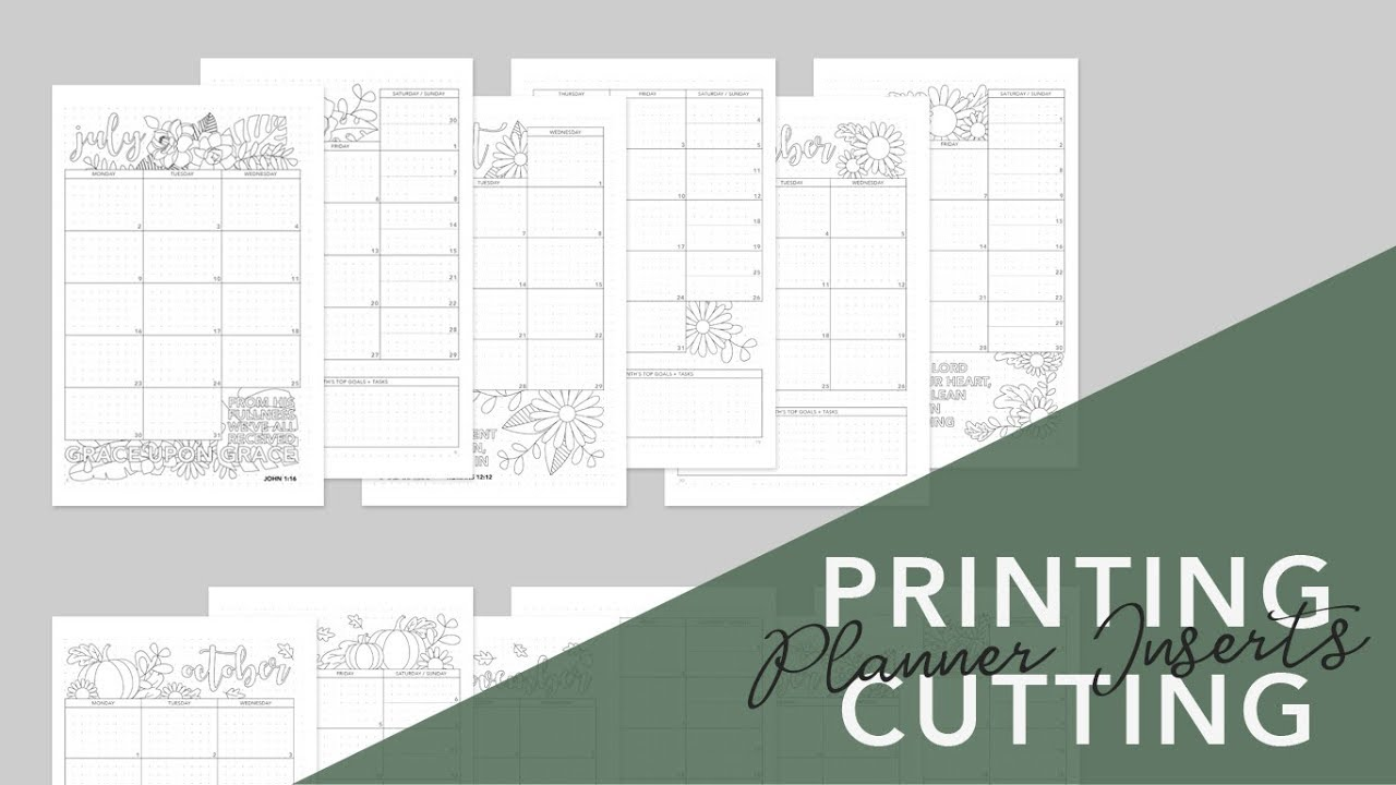 how to print cut half letter a5 planner inserts on letter a5 or a4 size paper