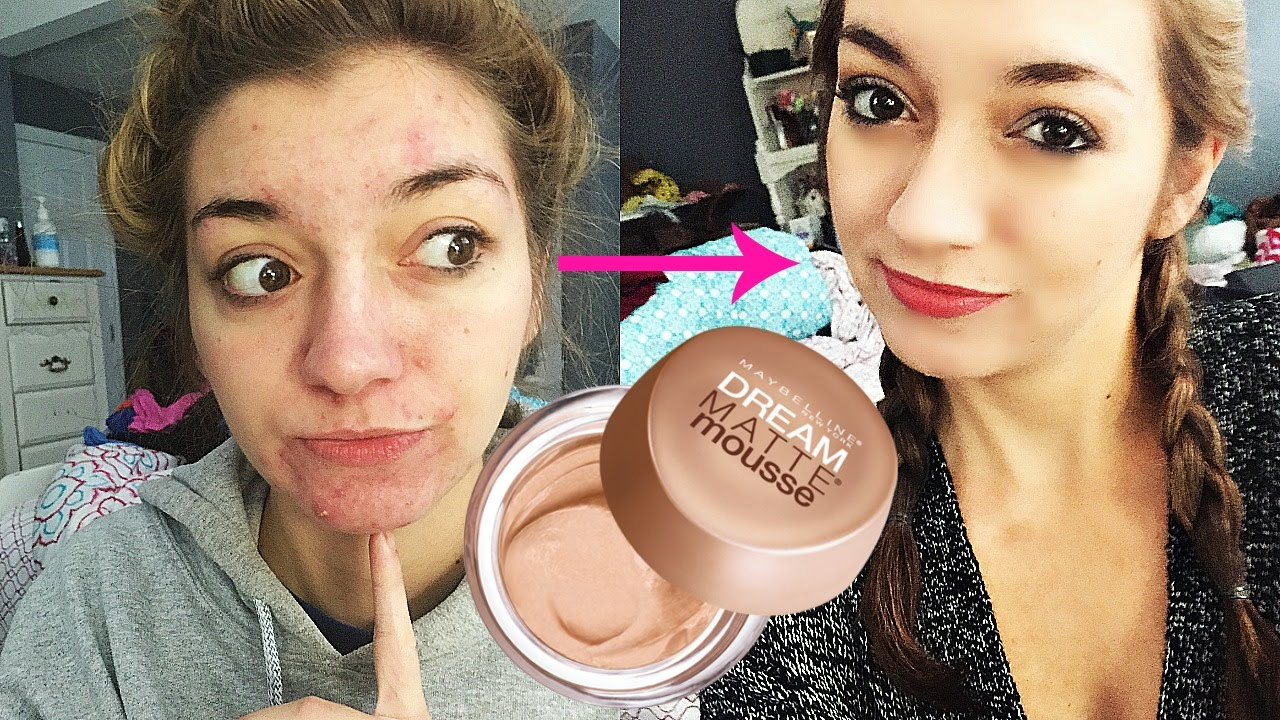 Demo Review Maybelline Dream Matte Mousse Foundation Youtube
